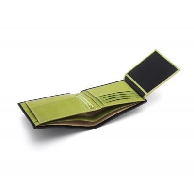 Black With Lime Essential Billfold Wallet