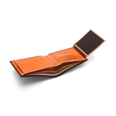 Brown With Orange Essential Billfold Wallet