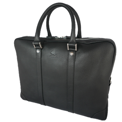 Black With Silver Gainsborough Laptop Bag