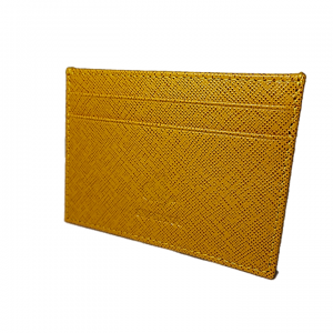Yellow safiano  Flat Credit Card Wallet