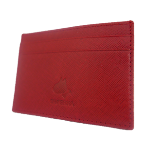 Oxblood Red Flat Credit Card Wallet
